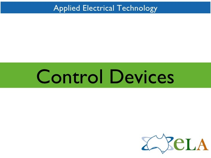 Applied Electrical Technology Control Devices