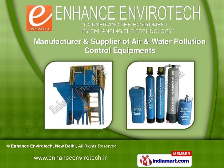Manufacturer & Supplier of Air & Water Pollution             Control Equipments
