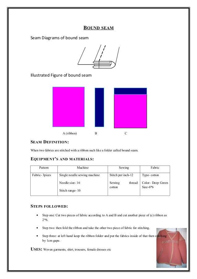 Differen types of seam 8 bound seam seam diagrams ccuart Gallery