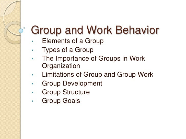 human behavior in organization General objectives: after an hour of varied lecture-discussion, the students of the graduate school of uc-main will be able to gather and supplement additional knowledge, develop skills, and.