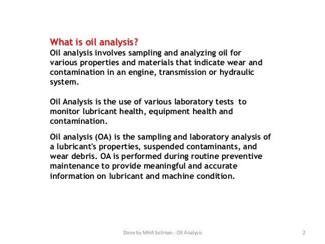 Machinery Oil Analysis Slide 2