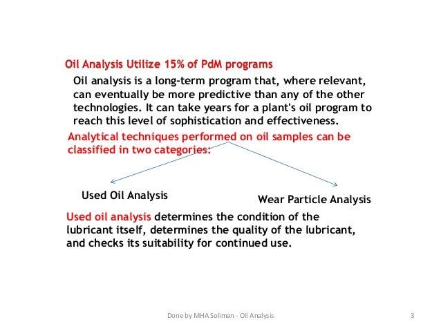 Machinery Oil Analysis Slide 3