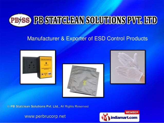 Manufacturer & Exporter of ESD Control Products