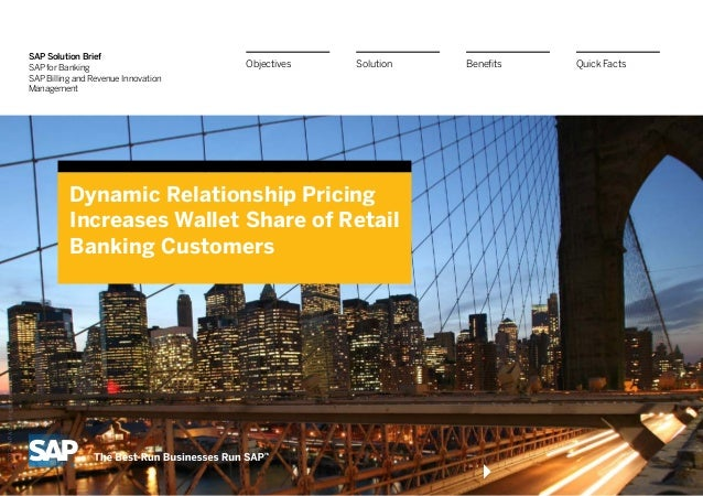 SAP Solution Brief                                     SAP for Banking                      Objectives   Solution   Benefi...