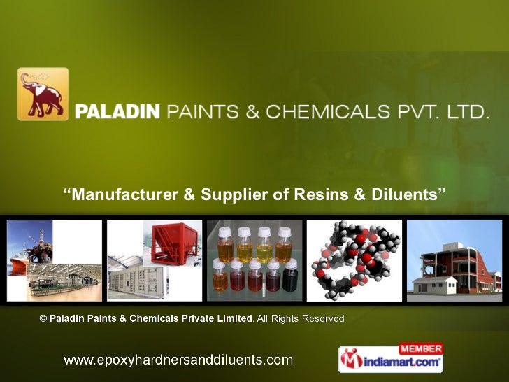 """ Manufacturer & Supplier of Resins & Diluents"""