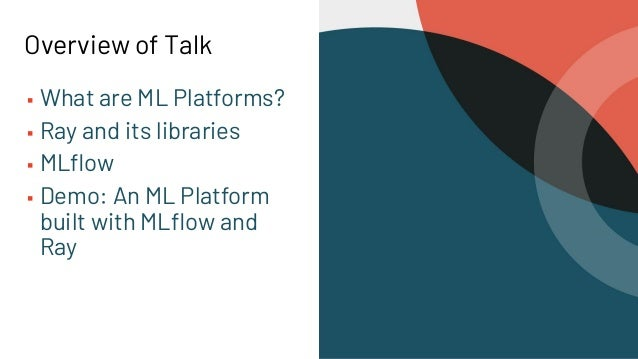 Building an ML Platform with Ray and MLflow Slide 3