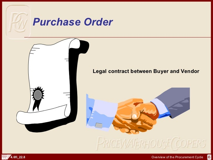 SAP FI Procurement Cycle And Documents – Is a Purchase Order a Legal Document