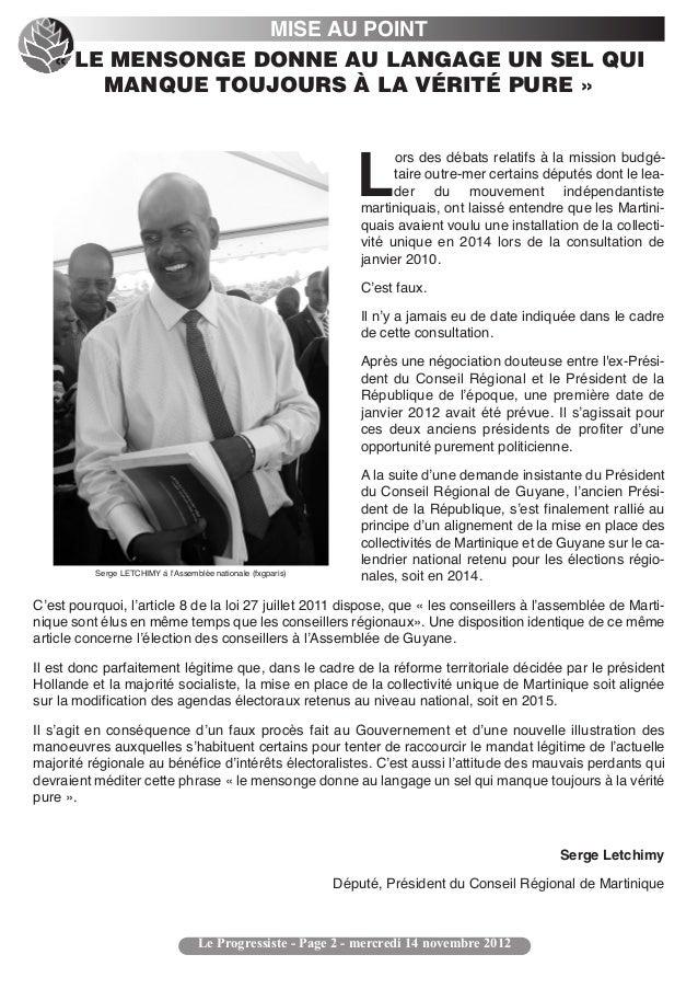 MISE AU POINT   « LE MENSONGE DONNE AU LANGAGE UN SEL QUI       MANQUE TOUJOURS À LA VÉRITÉ PURE »                        ...