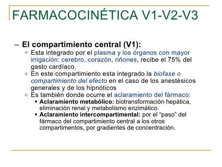 FARMACOCINÉTICA V1-V2-V3 <ul><ul><li>El compartimiento central (V1):  </li></ul></ul><ul><ul><ul><li>Esta integrado por el...