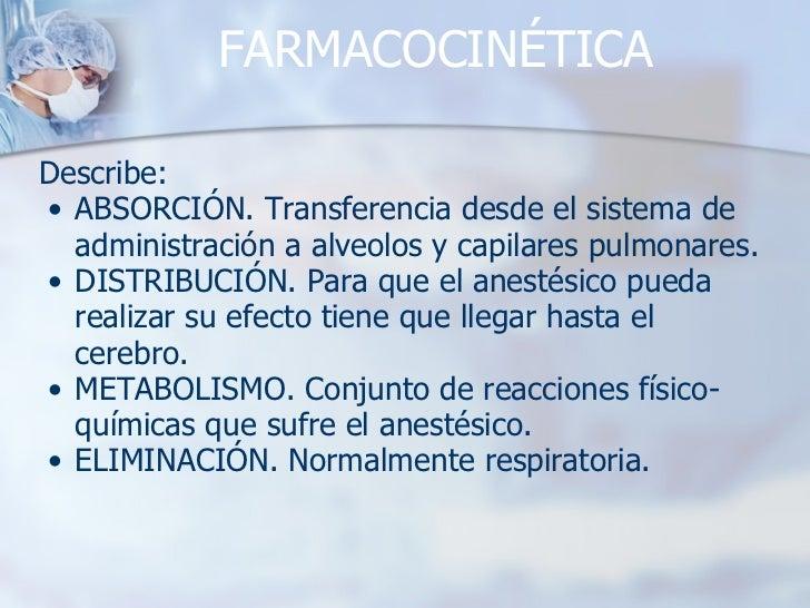 FARMACOCINÉTICA <ul><li>Describe: </li></ul><ul><ul><li>ABSORCIÓN. Transferencia desde el sistema de administración a alve...