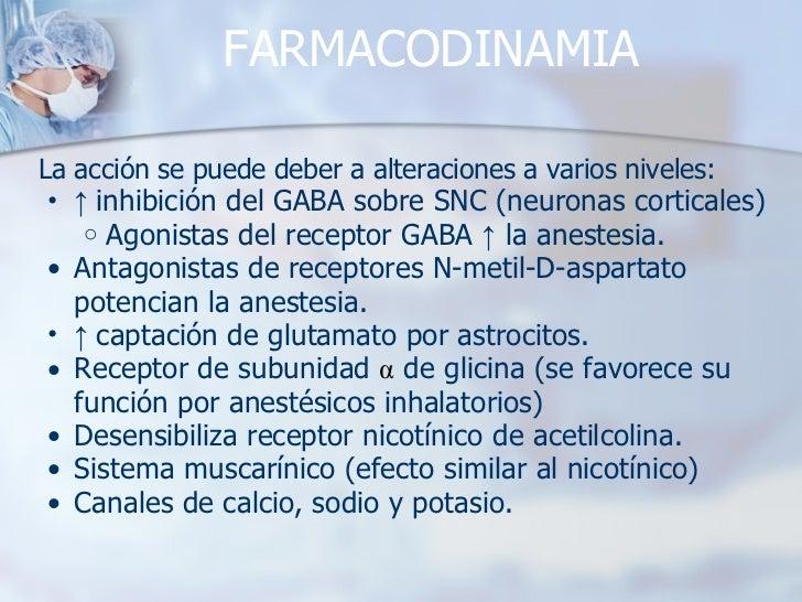 FARMACODINAMIA <ul><li>La acción se puede deber a alteraciones a varios niveles: </li></ul><ul><ul><li>↑  inhibición del G...