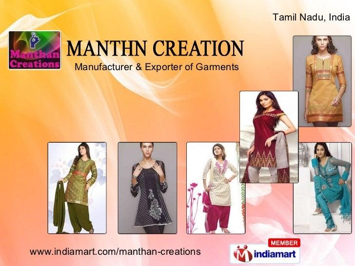 Manufacturer & Exporter of Garments Tamil Nadu, India