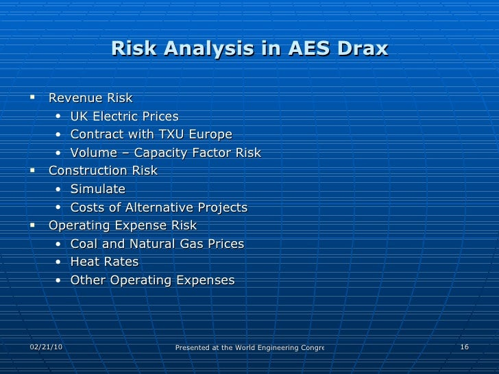 Assessment Of Risks In International Epc Projects