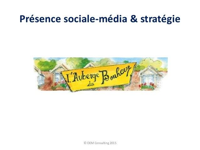 Présence sociale-média & stratégie © OEM Consulting 2015