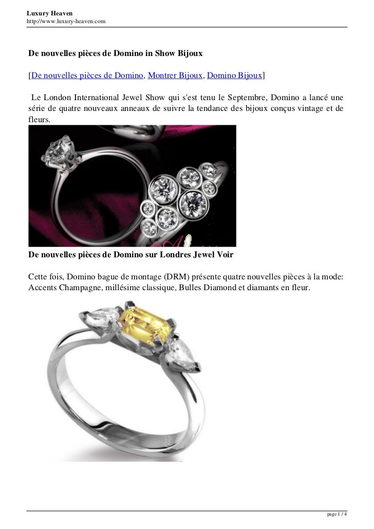 Luxury Heavenhttp://www.luxury-heaven.comDe nouvelles pièces de Domino in Show Bijoux[De nouvelles pièces de Domino, Montr...