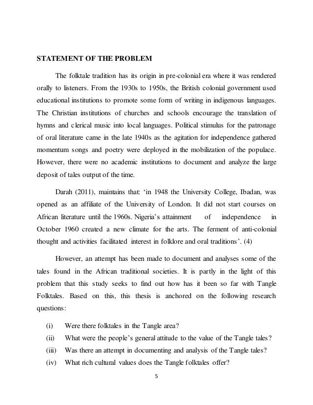 Thesis on traditional values