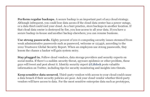 safety in the cloud 5 best practices for cloud storage security. Black Bedroom Furniture Sets. Home Design Ideas