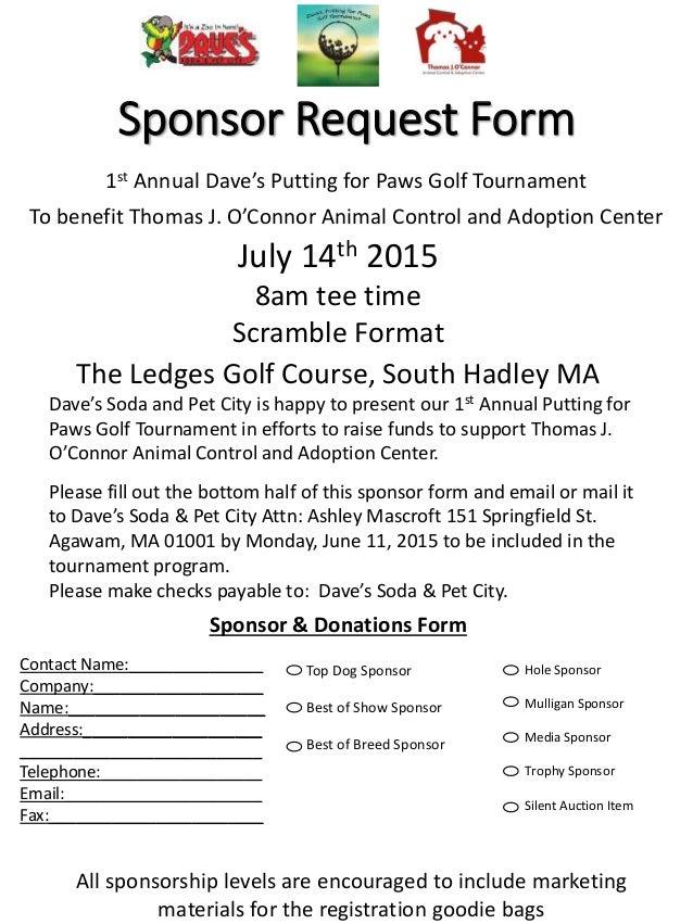 Sponsor Request Form ...  How To Make A Sponsor Form
