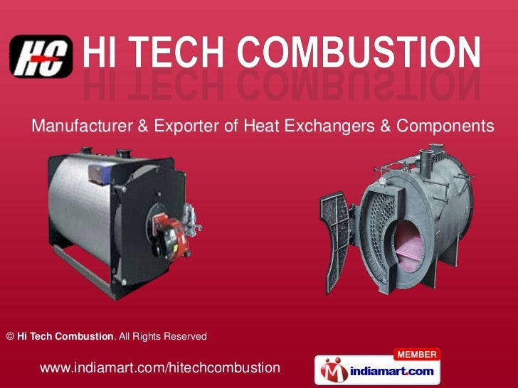 Manufacturer & Exporter of Heat Exchangers & Components© Hi Tech Combustion. All Rights Reserved      www.indiamart.com/hi...