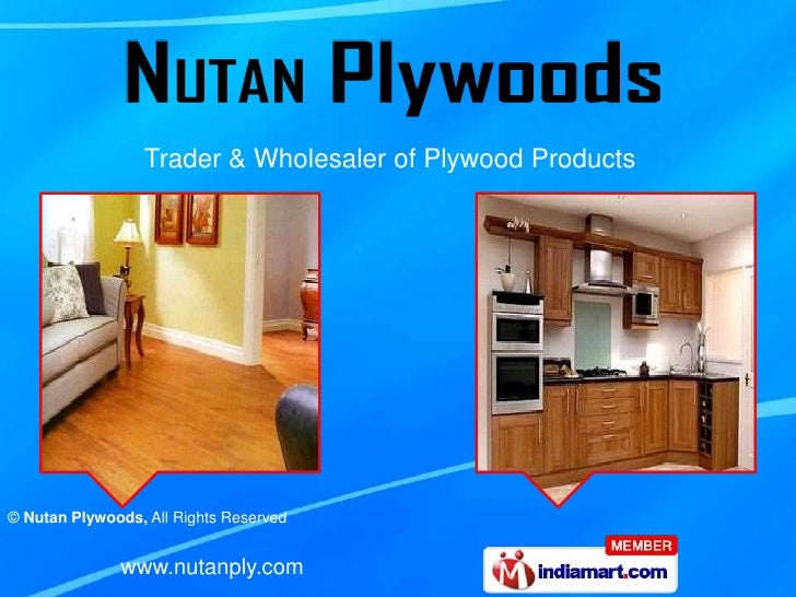Trader & Wholesaler of Plywood Products<br />