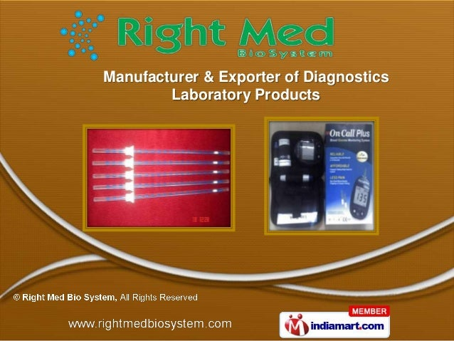 Manufacturer & Exporter of Diagnostics        Laboratory Products