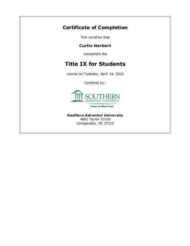 certificate title ix slideshare students upcoming training