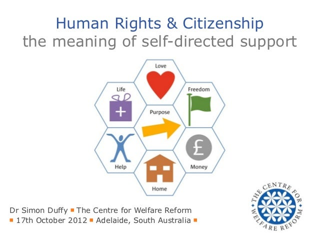Human Rights & Citizenship   the meaning of self-directed supportDr Simon Duffy ■ The Centre for Welfare Reform■ 17th Octo...