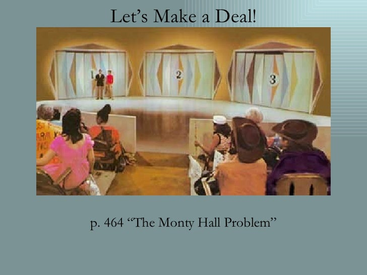 "Let's Make a Deal! p. 464 ""The Monty Hall Problem"""