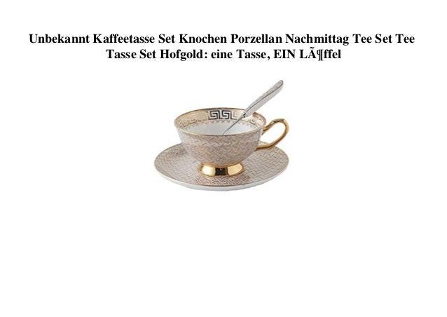 Unbekannt Kaffeetasse Set Knochen Porzellan Nachmittag Tee Set Tee Tasse Set Hofgold: eine Tasse, EIN Löffel
