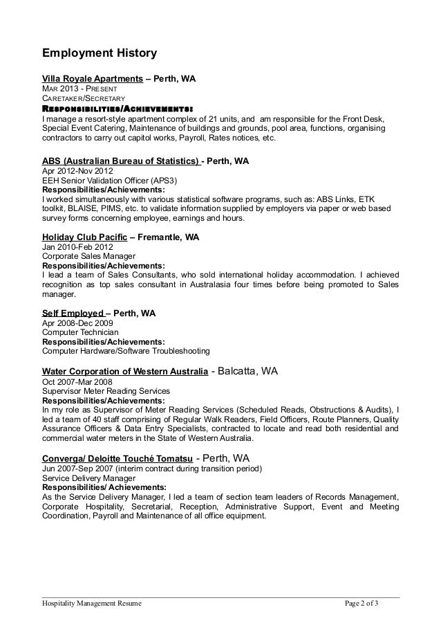 holiday consultant resume