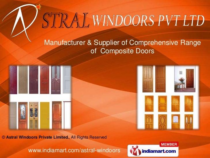 Manufacturer & Supplier of Comprehensive Range of  Composite Doors<br />