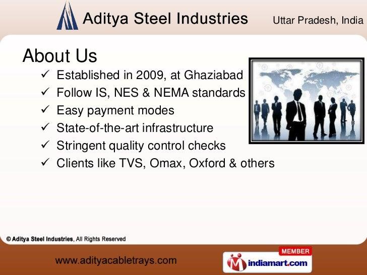 Cable Tray Accessories by Aditya Steel Industries Ghaziabad Slide 2