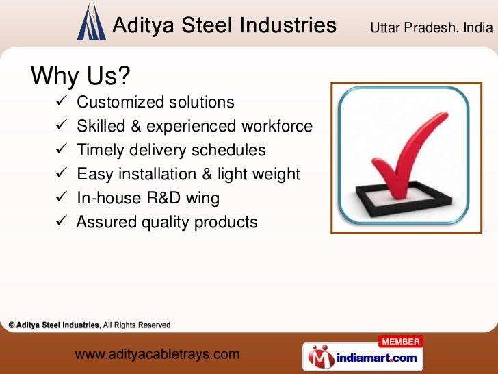 Cable Tray Accessories by Aditya Steel Industries Ghaziabad Slide 3