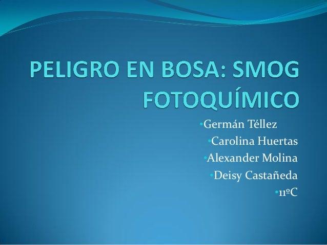 •Germán Téllez •Carolina Huertas •Alexander Molina •Deisy Castañeda •11ºC
