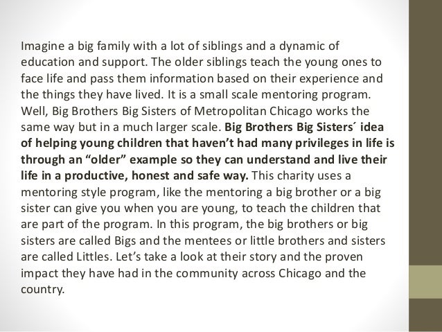 Big brothers, big sisters: helping young children since 1904 Slide 2