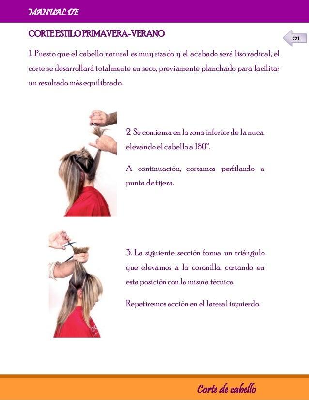 Tecnica para corte de cabello en v