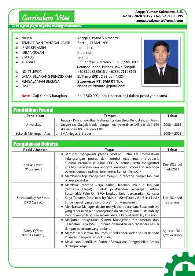 Cv Angga Yumam Sukmanto Ahli K3 Umum