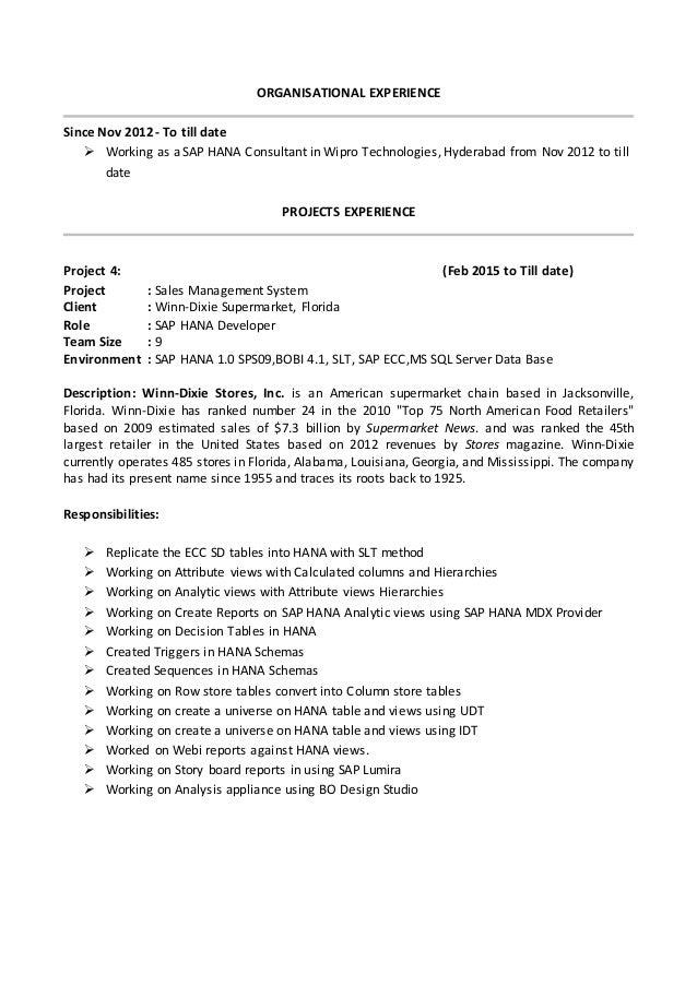sap mm resume for fresher 17 images information