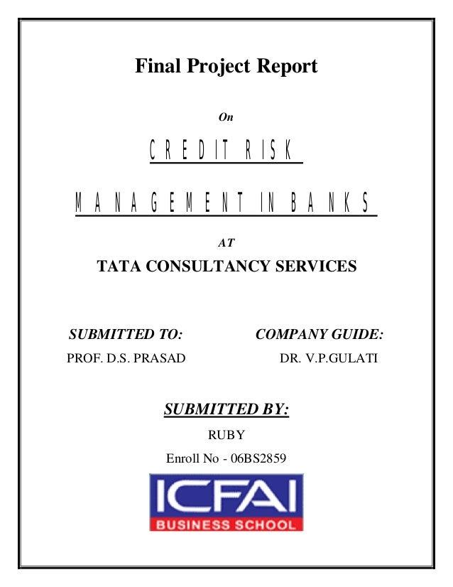 credit management project report pdf