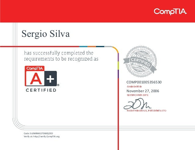 comptia certificate certification 2009 slideshare certifications edition verify pdf upcoming security code save
