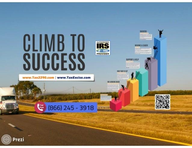 2290 Electronic Filing - Climb To Success