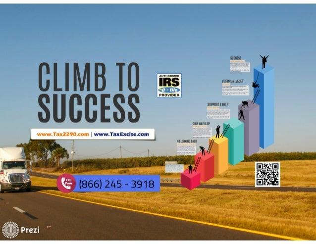 2290 Electronic Filing - Climb To Success Slide 2