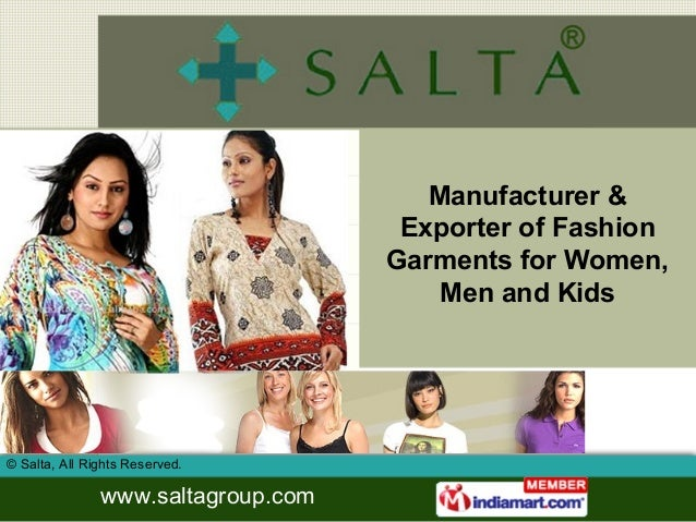Manufacturer &                                     Exporter of Fashion                                    Garments for Wom...