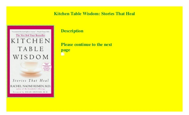 Kitchen Table Wisdom Stories That Heal Read E Book