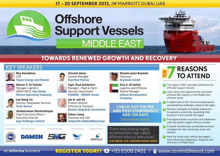 17 – 20 SEPTEMBER 2012, JW MARRIOTT, DUBAI, UAE                                                Offshore                   ...