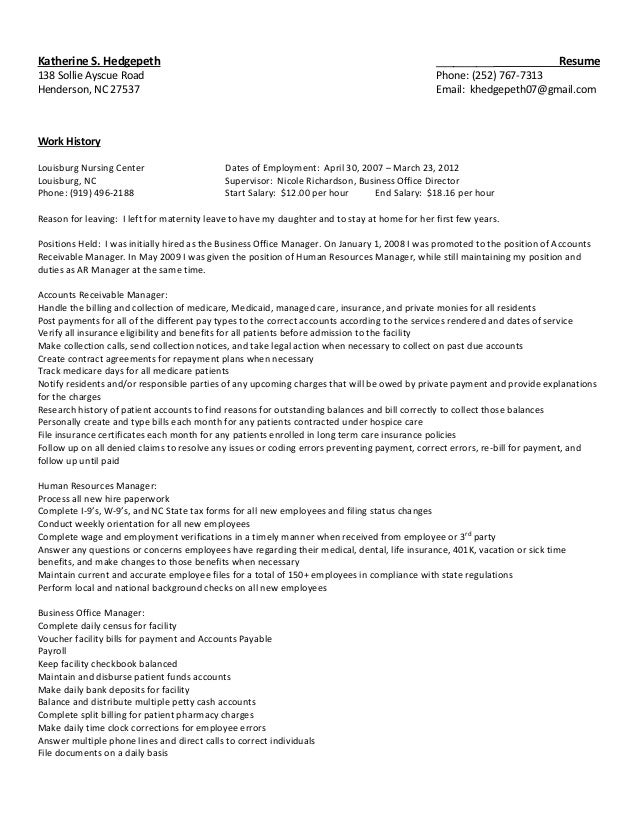 Kathy Resume PDF Format - Music Industry