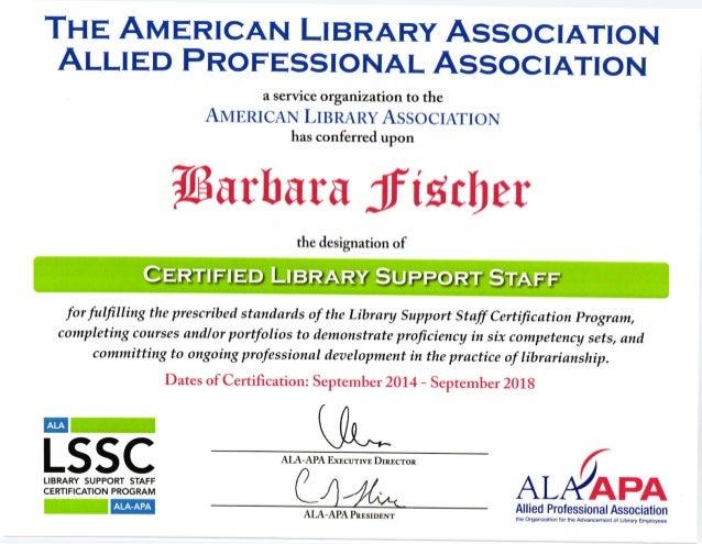 Ala Apa Lssc Complete Certification Copy