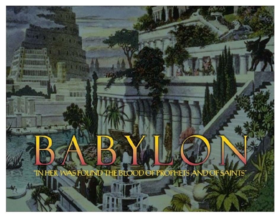 MysteryBabylon       1.TheBabylonofRev17isafigurativepictureoftheapostatechurch.                2.Rev20is...