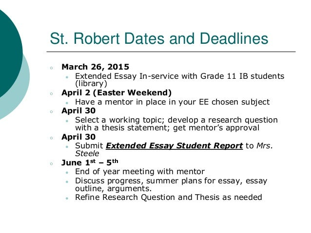 extended essay deadline Are you a high school senior setting your sights on college maybe you're  already a college student and could use extra money towards tuition.