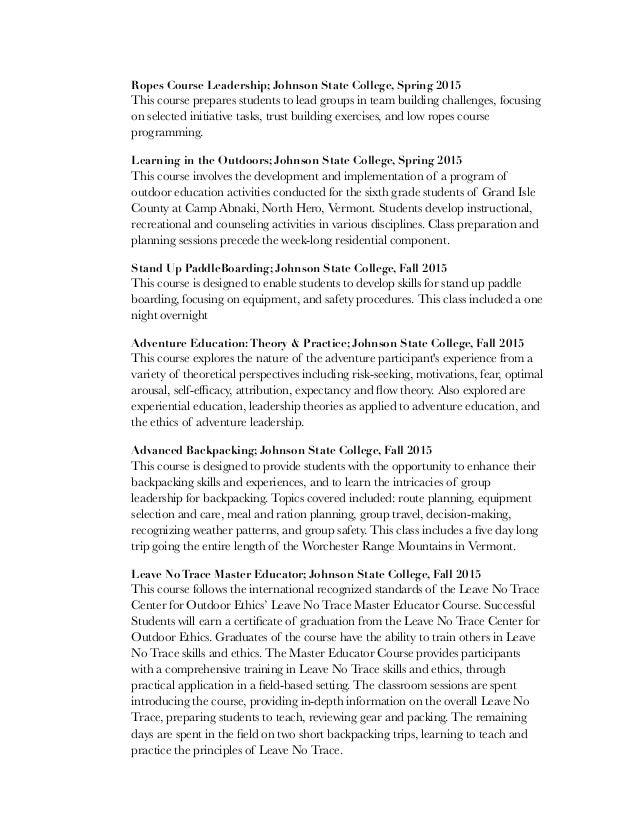 Outdoor Resume pdf